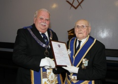 Presentation of 60 Year Certificate