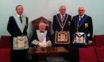 W.Bro R.W.Ellis WM Derwent Lodge No 4250 with W.Bro D.Bowen IPM Dewent Lodge No888