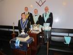W.Bro Dr P.A.Mundell W.M. Derwent Lodge No.4250 wiith W.Bro P.Borst Wm Derwent LodgeNo,884