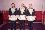 W.Bro T.W.D.Railson W.M. with Bro E.White SW and Bro B.CoxJW